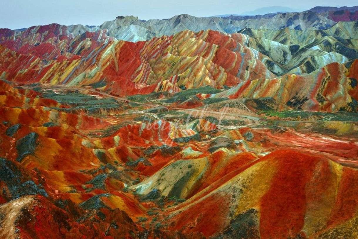 Разноцветные скалы Чжанъе Данься, Китай (20 фото) | Китай, Дания ... | 815x1219